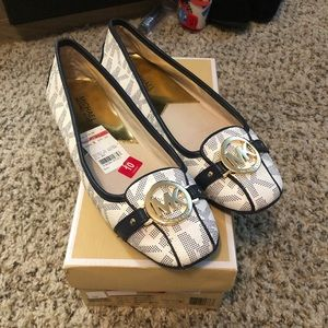 Michael Kors Fulton Moc in White and Navy